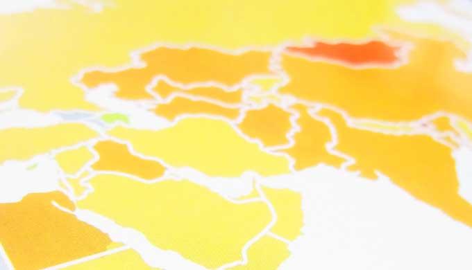 プレート地図