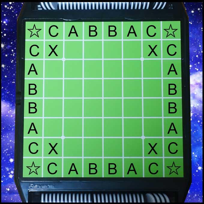 オセロ盤のアルファベット