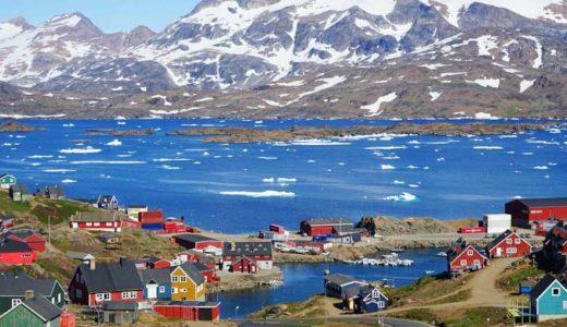 「グリーンランド」緑より氷河の多い、地球最大の島
